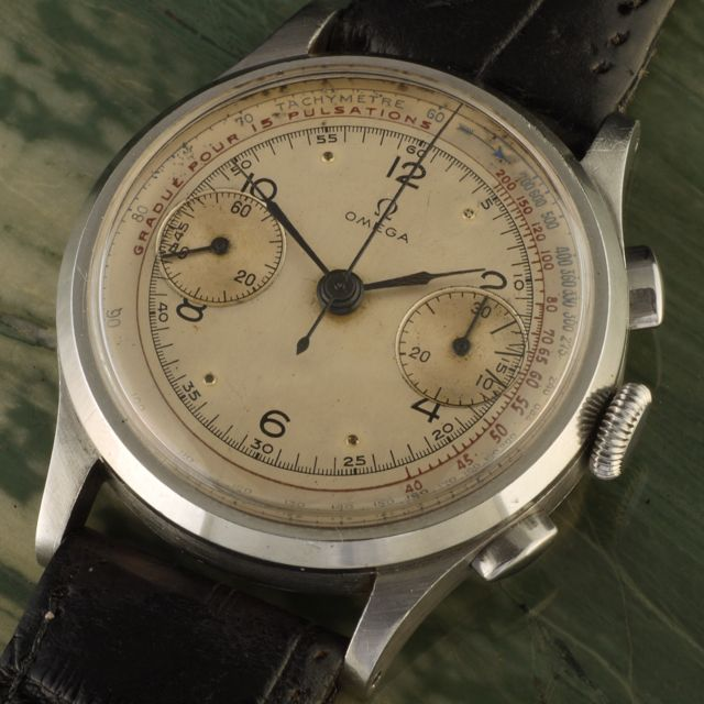 1946 Omega Chronograph Tachymeter Pulsometer cal. 33.3