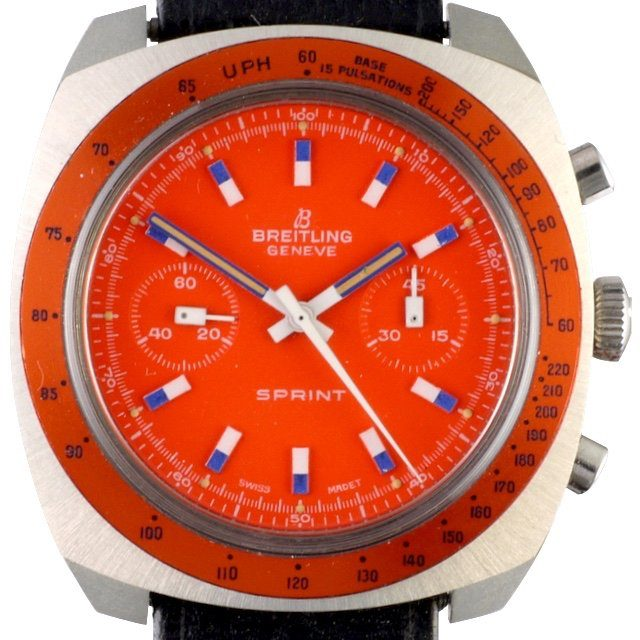 1972 Breitling Sprint orange dial ref. 2013