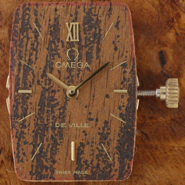 omega de Ville wood dial ref. 511.04912