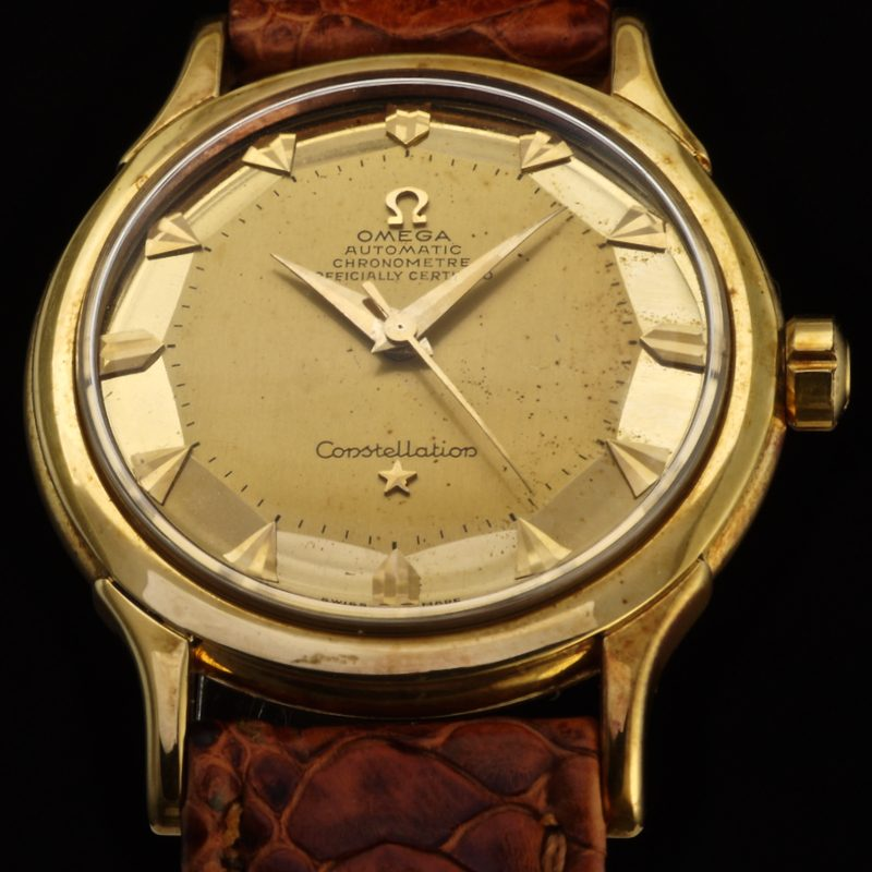 1952 gold Omega de Luxe Constellation ref. 2699 SC