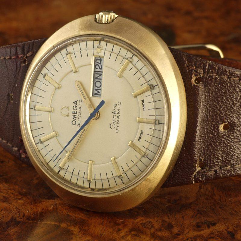 1967 Omega Geneve Dynamic 18k gold case ref. 166.0079