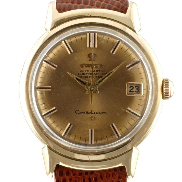 1959 gold Omega Grand Luxe Constellation date ref. OT2988 SC