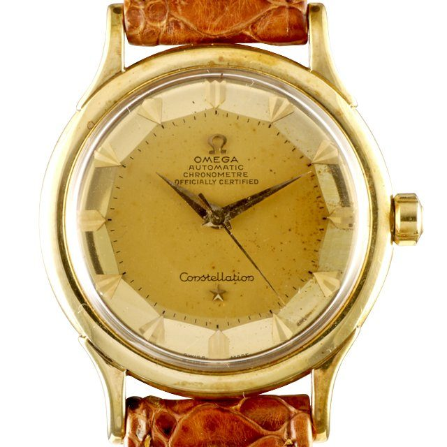 1952 gold Omega de Luxe Constellation ref. 2699