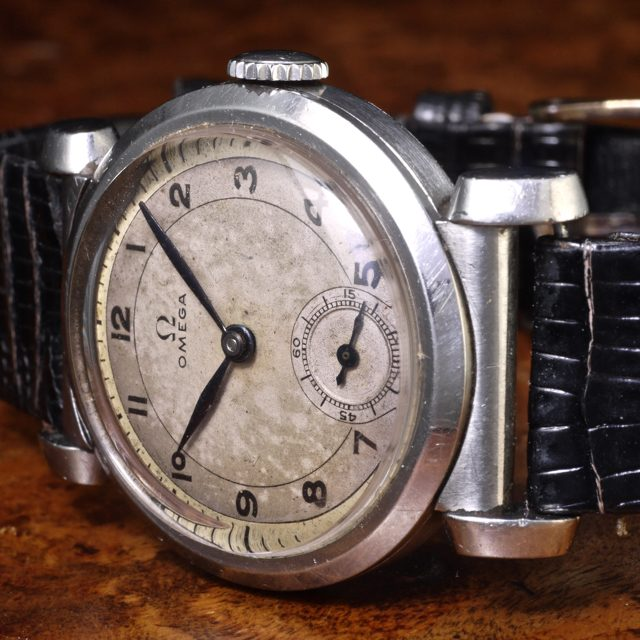 Omega Art Deco ref. 615 cal. 26.5SOB  30,5mm. scarab stainless steel case