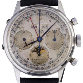 euer Dato-Compax dial triple calendar and Moon phases