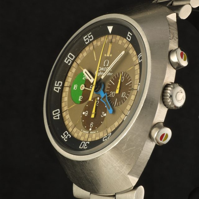 1969 Omega Flightmaster first generation - cadmium yellow chronograph hands ref. ST 145.013 cal. 910