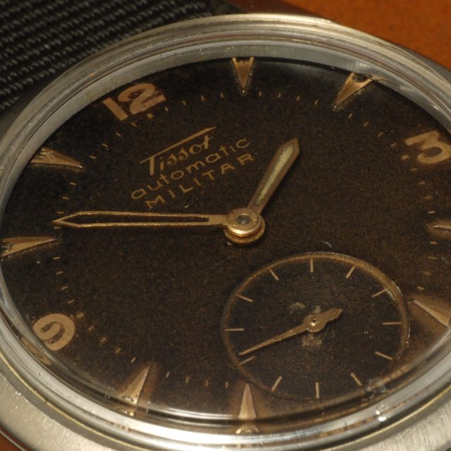 1953 Tissot automatic Militar chocolate tropical dial