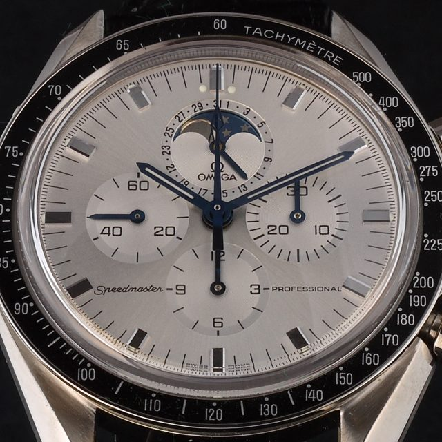 1999 white gold Omega Speedmaster Professional