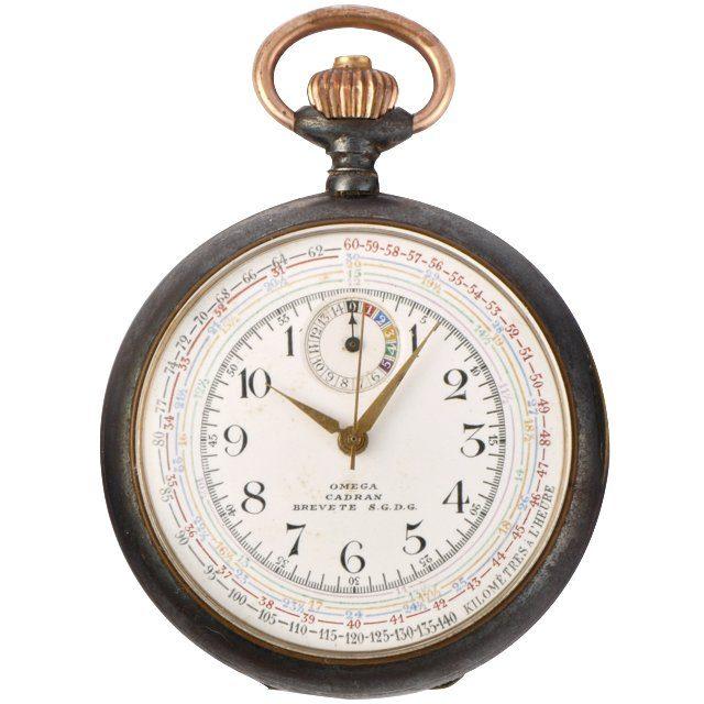1918 Omega chrono-tachymeter pocket watch ref. KCA 141 LV