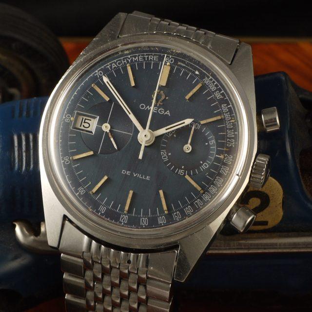 Omega 146017 blue dial de Ville Chronograph